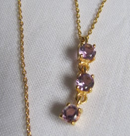 Necklace gold on silver