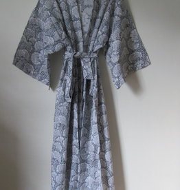 Kimono, dressing gown, bohemian lounge clothes , ginko grey