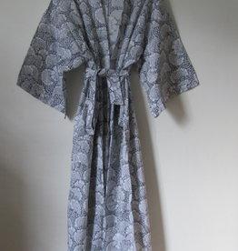Kimono, ochtendjas, bohemian lounge kleding , ginko grijs
