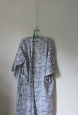 Kimono, dressing gown hand printed with vegetable dyes. 100% cotton