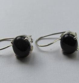 Earring dormeuse silver onyx