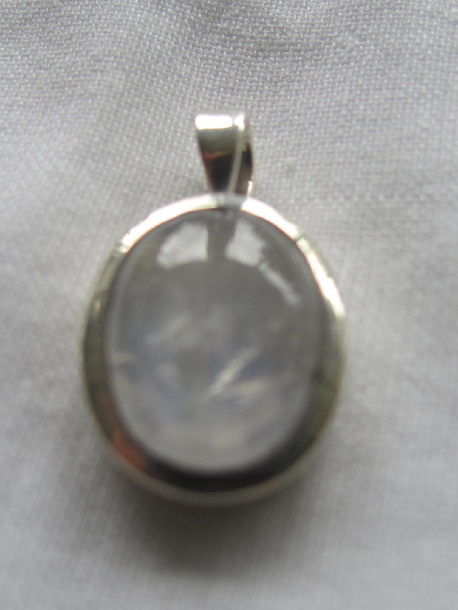 Pendant Zilver met regenboog maansteen