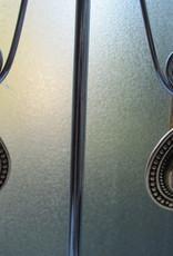 Earring gold on silver rhodochrosite dormeuse model