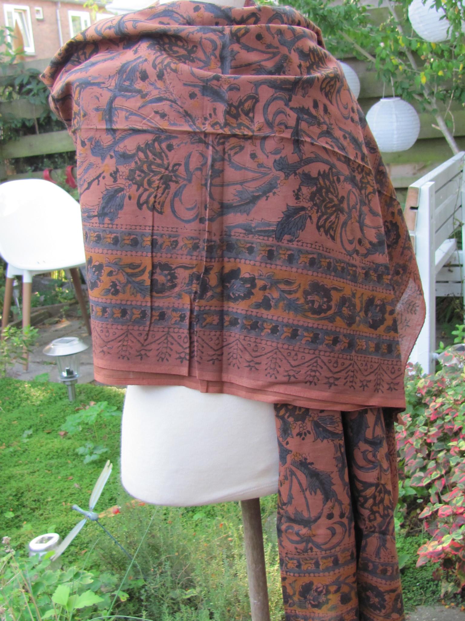 Shawl, Sarong, Pareo, skirt,   100% Handprinted Cotton