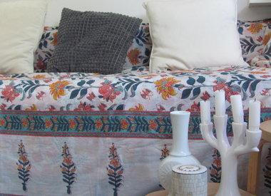 Kleurrijke Bedsprei / grand foulard