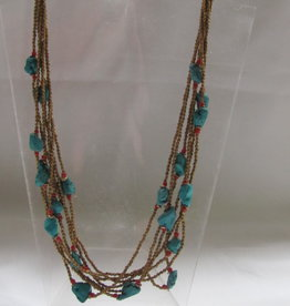 Necklace from brass