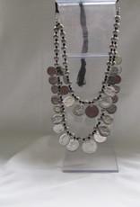 Necklace Silver colour tribal bohemian model