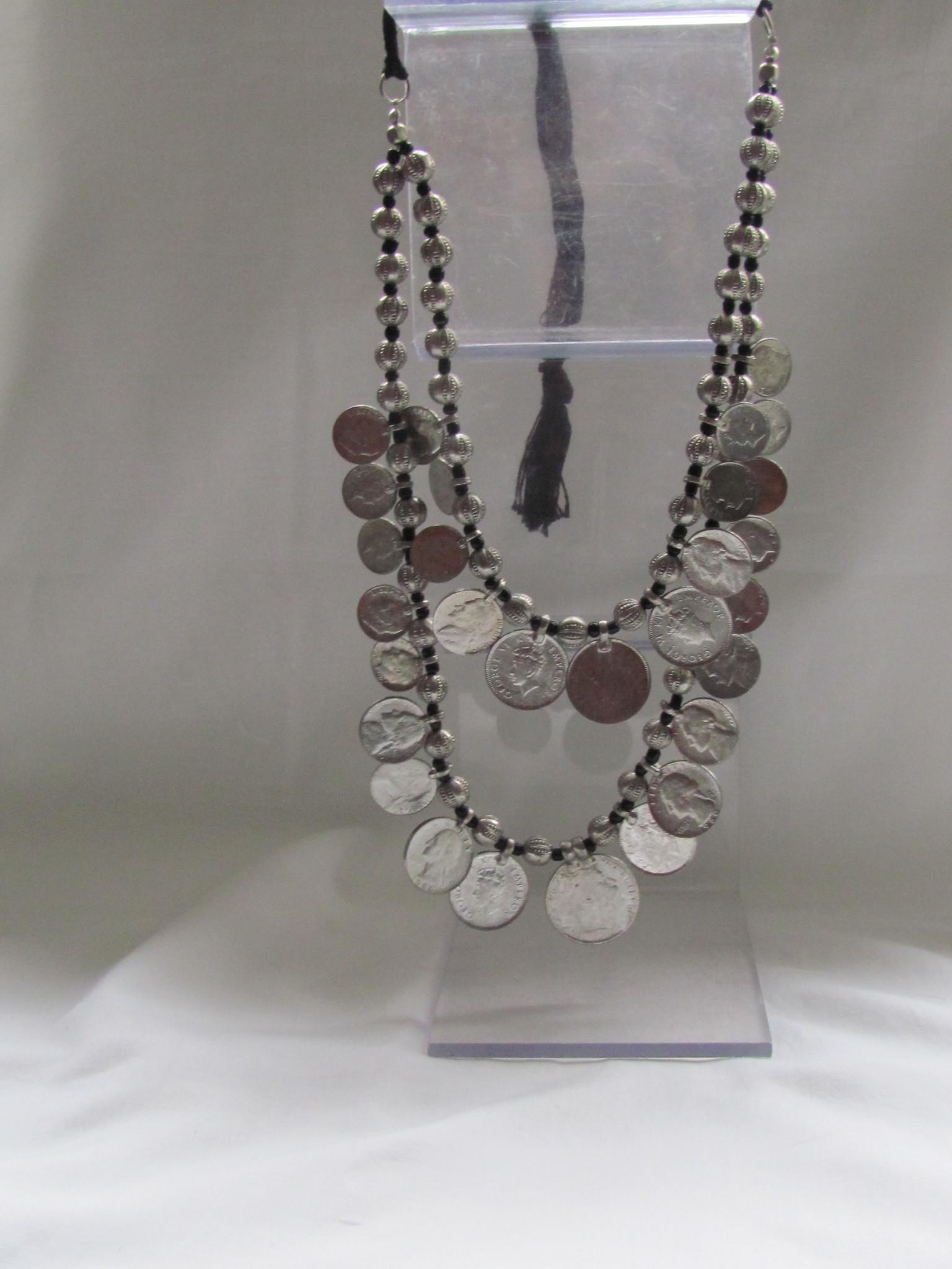 Halsketting Zilverkleurig tribal bohemian model