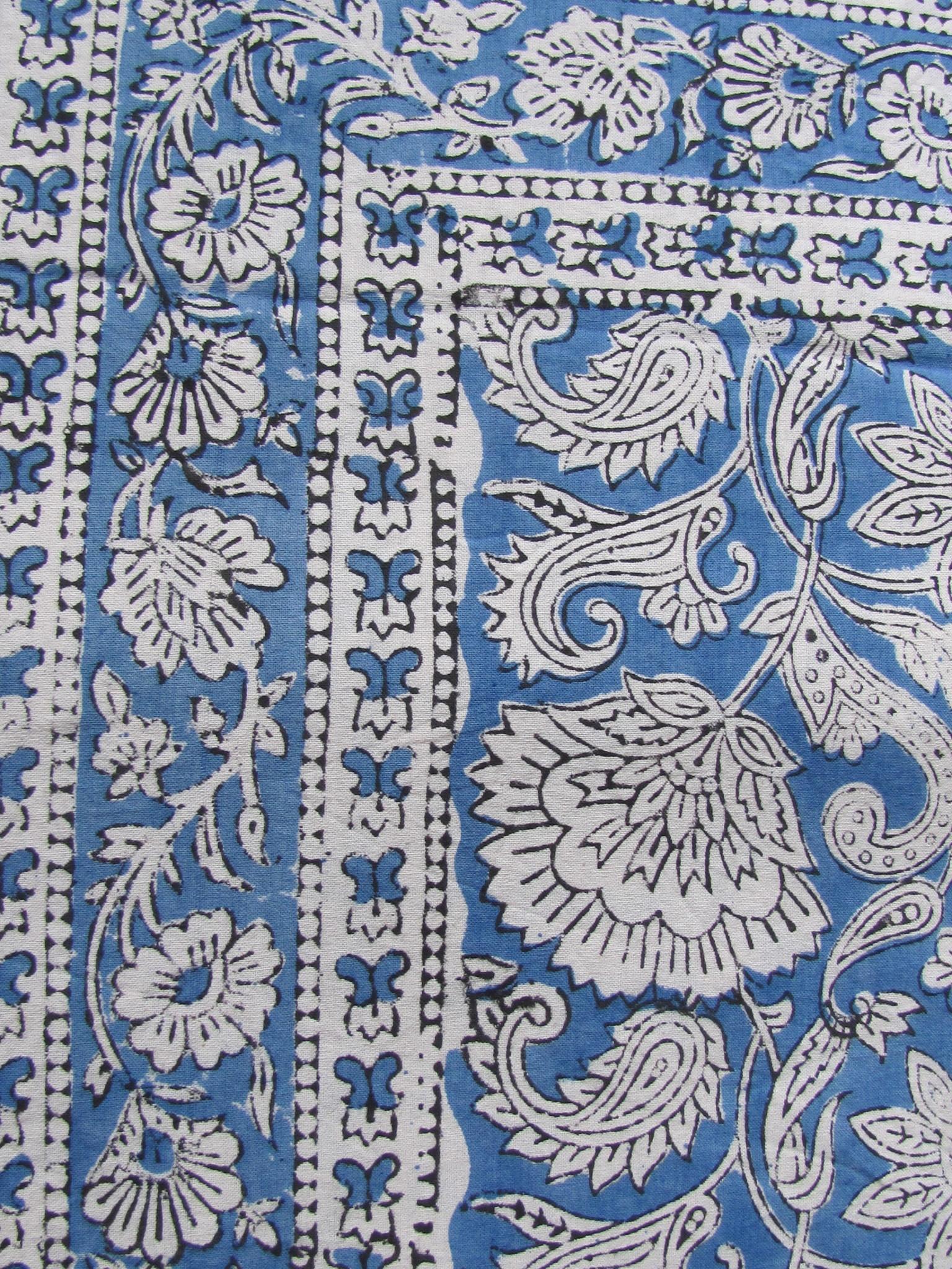 Indian bedspread, Bedsheet Bohemian,  Grand Foulard , TabelCloth,