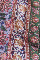 Hippy night India quilted and  handprinted  soft Cotton double quilt