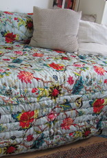 Quilt pure cotton and hand printed. double