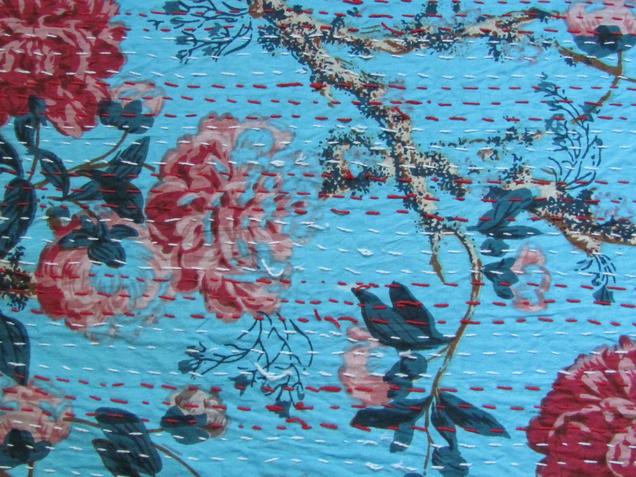 Bedspread  / grandfoulard Gudri  double  gypsy  counterpane