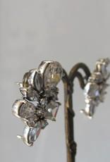Oorbel zilver zircon retro stekker