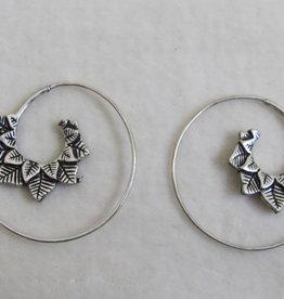 Spiral boho earrings  gypsy style