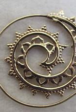 Earring brass curly wirly tribal bohemian Ibiza gypsy style