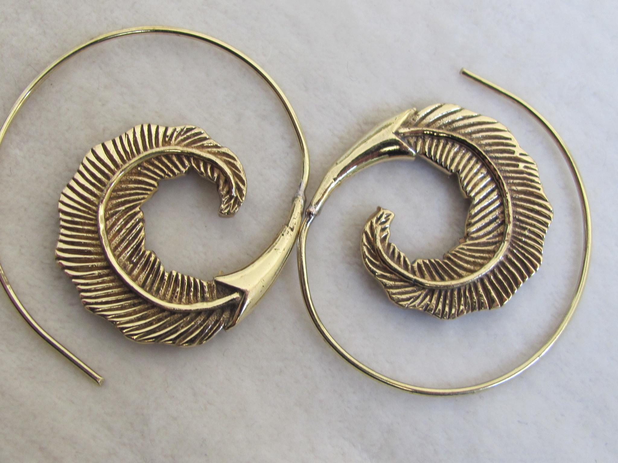 Earring brass  tribal bohemian Ibiza gypsy style