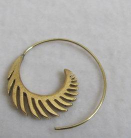 Earring  tribal brass