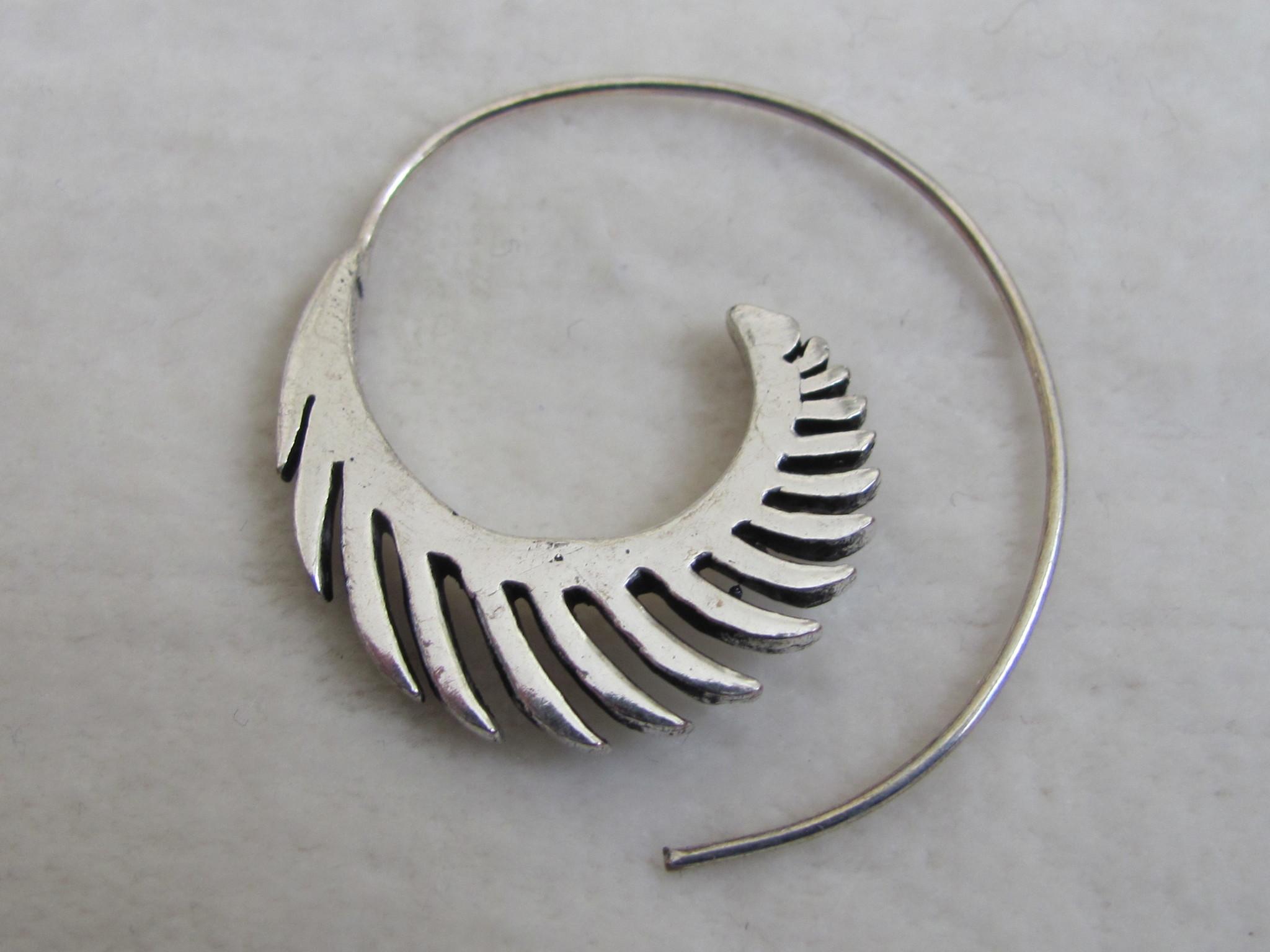 Silver coloured bohemian earrings  gypsy design