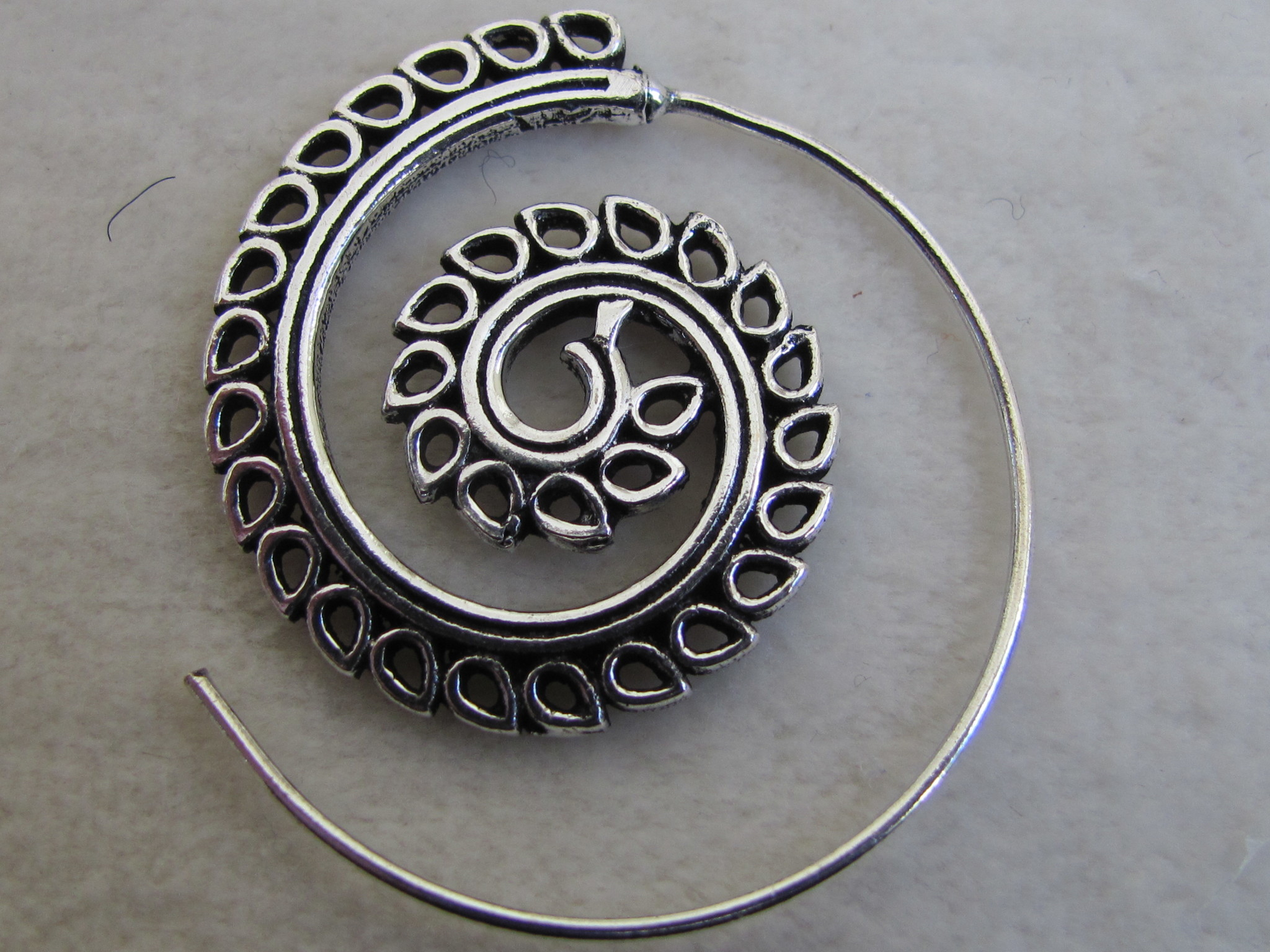 Silver coloured bohemian earrings  gypsy style