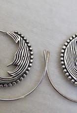 Zilver kleur oorbellen tribal bohemian design