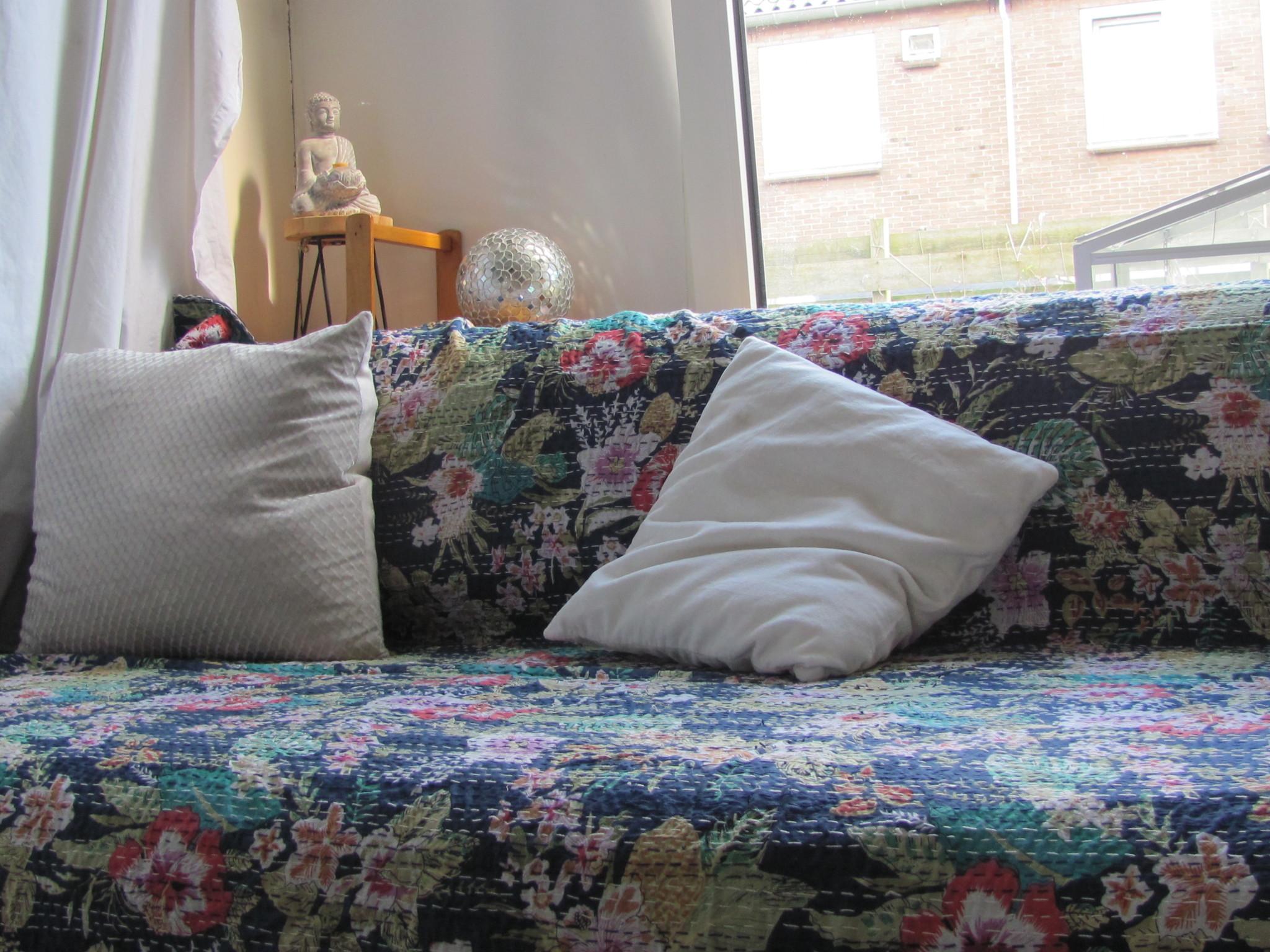 Beddensprei double gudri,  bohemian Indiase quilting hippie  slaapkamer sprei
