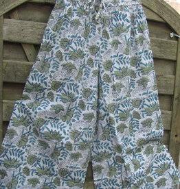 Pants wide legged hand( block )printed