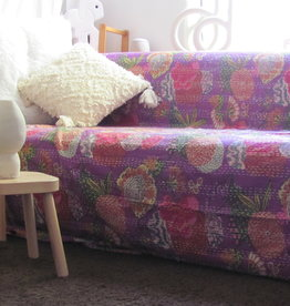 Bedspread hand stitched and  printed  Gudri  double