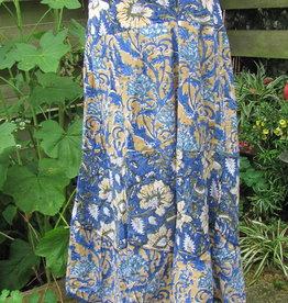 Skirt,  blockprinted. Long bohemian slow fashion