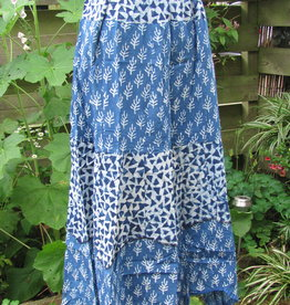 Skirt Indigo,  blockprinted. Long. slow fashion