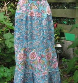 Skirt long bohemian  blockprinted, slow fashion