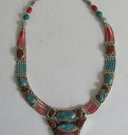 White metal necklace