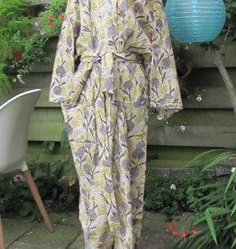 Kimono katoen, ochtendjas, lounge kleding