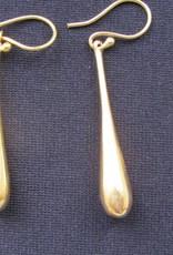 Earring brass Solid Teardrop