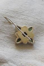 Earring silver peridot