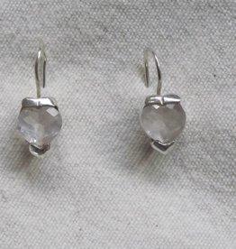 Oorbel zilver berg crystal