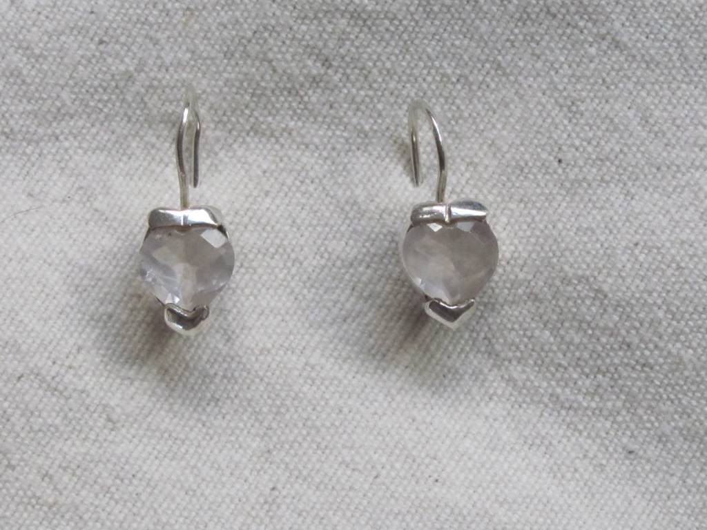 Earring silver mountain crystal