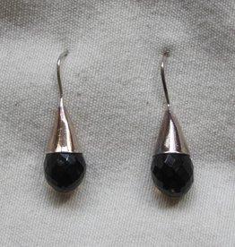 Oorbel zilver rookkwarts