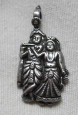 Pendant zilver Radha Krishna
