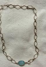 Halsketting zilver calceadon