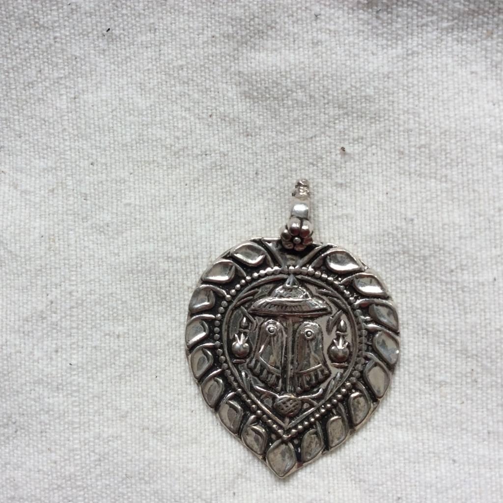 Pendant zilver paduka the gurus feet