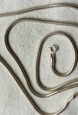 Halsketting zilver slang 2