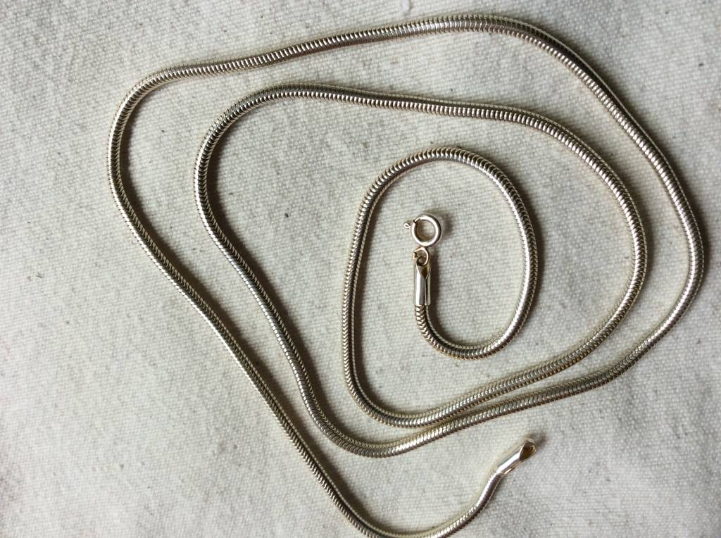 Necklace silver snake 2