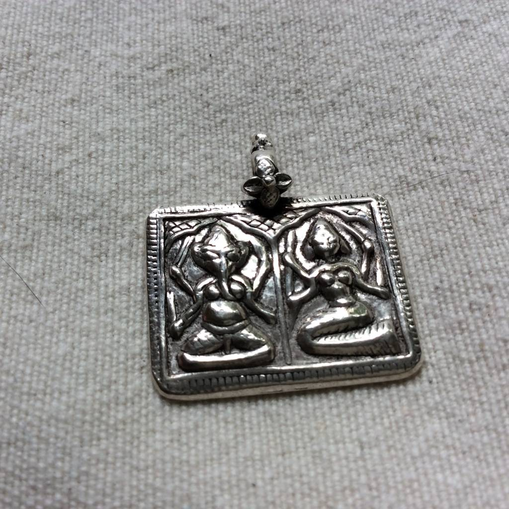 Pendant zilver Ganesh Laxmi