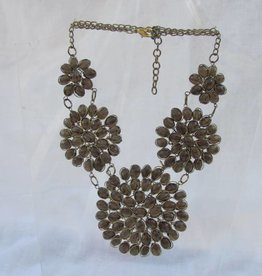 Necklace from glass and braas
