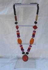 Ketting met pendant, handgemaakte kralen
