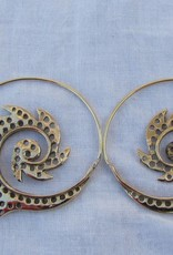 Earring curly wirly tribal bohemian