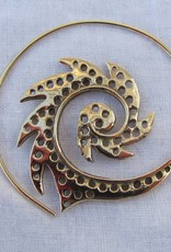 Bohemian spiraal oorbellen