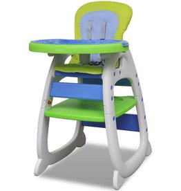 VidaXL Kinderstoel 3-in-1 blauw-groen