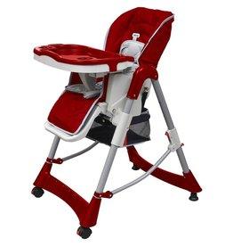 VidaXL Luxe kinderstoel in hoogte verstelbaar (rood)