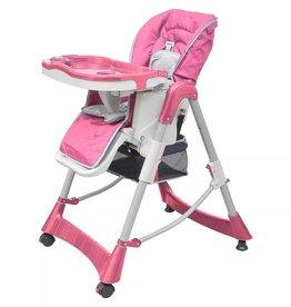 VidaXL Luxe kinderstoel in hoogte verstelbaar (roze)